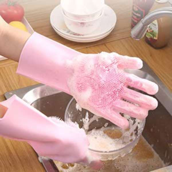 Dish cleaning gloves